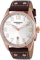 Torgoen Swiss Men's T28104 T28 3-Hand Rose Aviation Watch
