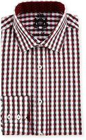 English Laundry Checked Long-Sleeve Dress Shirt, Red