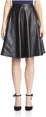 Les Copains Women's Leather Skirt