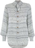 Vivienne Westwood Hals Shirt Isabel Print Off White Size 40