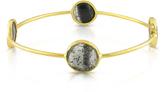 Sofia B 27 CT Rutilated Quartz Bangle Bracelet in 22K Gold-Plated Sterling Silver