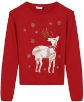 Arshiner Christmas Cute Deer Sweater Girls Knitted Sweatshirts Pullover 8-12 Years
