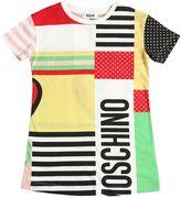 Moschino Logo Printed Cotton Jersey Dress