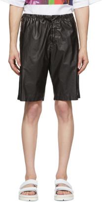 Dries Van Noten Black Coated Cotton Shorts