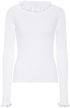 See by Chloe Ribbed cotton-blend top