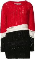 Prabal Gurung cashmere chunky knit colour-block jumper