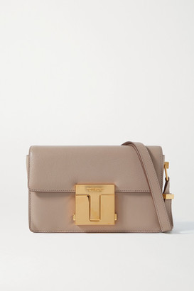 Tom Ford 001 Medium Leather Shoulder Bag - Taupe