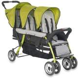Bed Bath & Beyond Foundations® Trio SportTM Splash of Color 3-Passenger Stroller in Lime