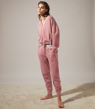 Reiss Harley - Washed Loungewear Joggers in Rose