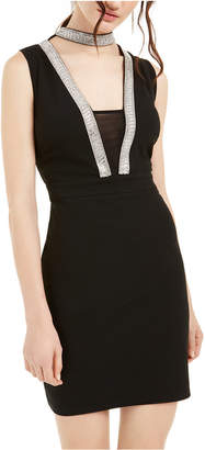 Bebe Juniors' Embellished Choker Bodycon Dress