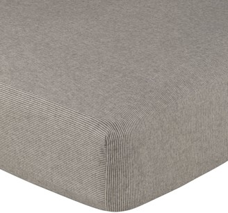 Croft Collection Euan Stripe Brushed Cotton Fitted Sheet