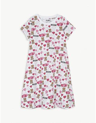 Moschino Bear and balloon cotton T-shirt dress 4-14 years