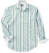 Thomas Dean Multi Stripe Long-Sleeve Woven Shirt