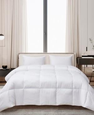 Cannon Ultra-Soft Nano-Touch Light Warmth White Down Fiber Comforter, King