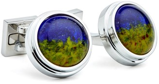 Ike Behar Pate Detailed Glass Cuff Links