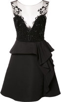 Marchesa embroidered top dress - women - Polyester - 2