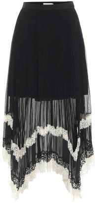 Jonathan Simkhai Raelynn asymmetric pleated midi skirt