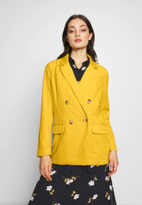 B.young BYElin Blazer - 34 | polyester | yellow | cord - Yellow/Yellow