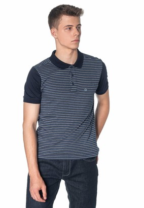 Merc Clifford Jacquard Men's Polo Shirt in Blue XX-Large (UK: XXL)
