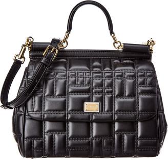 Dolce & Gabbana Sicily Medium Quilted Leather Shoulder Bag