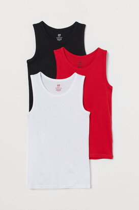 H&M 3-Pack Cotton Vest Tops
