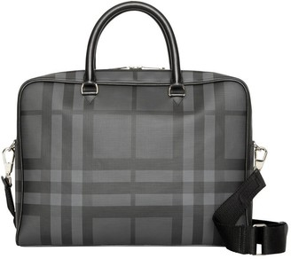 Burberry Check And Leather Briefcase
