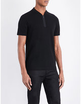 Armani Collezioni Stand Collar Cotton Polo Shirt
