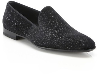 Saks Fifth Avenue COLLECTION BY MAGNANNI Velvet Smoking Slippers