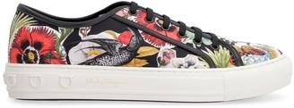 Salvatore Ferragamo Fabric Low-top Sneakers
