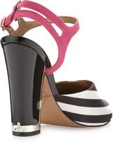 Sam Edelman Odetta Striped Satin Sandal