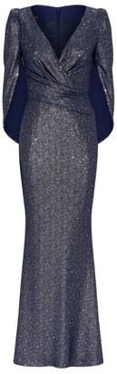 Talbot Runhof Metallic Rosin Gown
