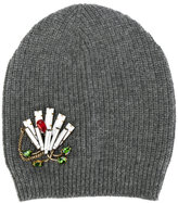 No.21 embellished knitted beanie hat