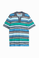Missoni Towelling-Striped Polo Shirt