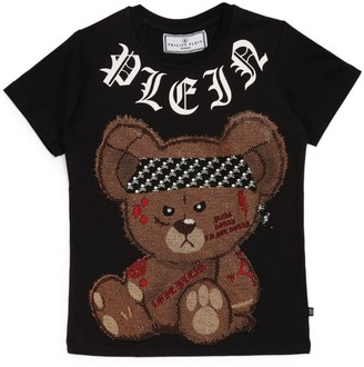 Philipp Plein Junior Rhinestone Teddy Bear T-Shirt