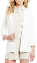 Jones New York Linen-Blend Ruched Back Blazer