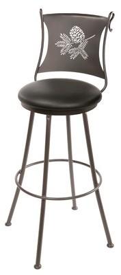 "Millwood Pines Trawick Swivel Bar & Counter Stool Seat Height: Counter Stool (25"" Seat Height)"