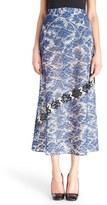 Christopher Kane Women's Embellished Lace Midi Skirt