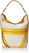 Calvin Klein Canvas Hobo Shoulder Bag, Natural/Marigold, One
