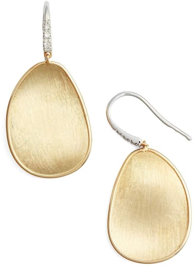 Marco Bicego Lunaria Diamond & Gold Drop Earrings