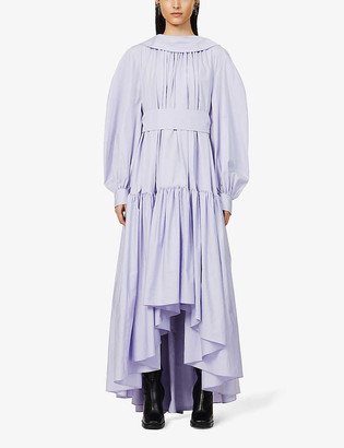 Alexander McQueen Poets Muse cotton-poplin midi dress