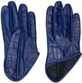 Manokhi embossed crocodile effect gloves