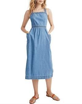 Madewell Juliet Apron Dress In Worn Indigo Wash