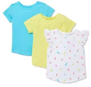 Garanimals Baby & Toddler Girls Flutter Sleeve Top & T-shirts, 3-pack