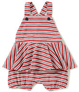 Ralph Lauren Baby Girls 3-24 Months Americana Striped Peplum-Skirted Romper