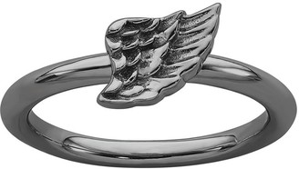 Simply Stacks Sterling Angel Wing Band Ring