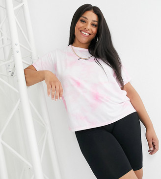 New Girl Order Curve oversized t-shirt in tie dye