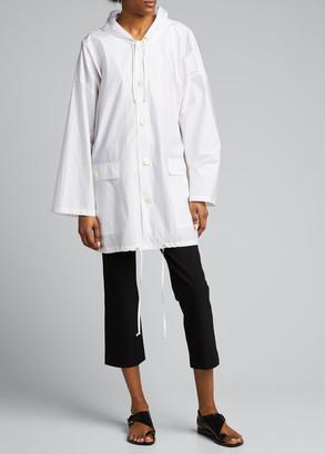 eskandar Hooded Rain Coat