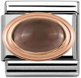 Nomination 9ct Rose Gold Smoky Quartz Classic Charm 430501/29