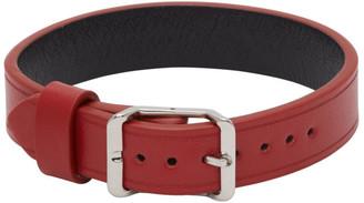 Maison Margiela Red Leather Bracelet