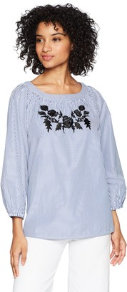 Jones New York Women's Embroidered Shirt